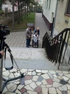 Kadrovi sa snimanja filma u Dispanzeru za žene